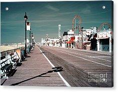 Ocean City Boardwalk Blues Acrylic Print