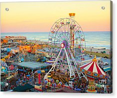 Ocean City New Jersey Boardwalk And Music Pier Acrylic Print
