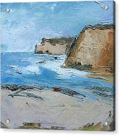 Acrylic Print featuring the painting Ocean Cliffs by Gary Coleman