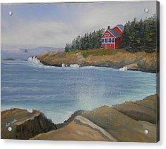 Ocean Cottage Acrylic Print
