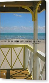 Ocean Dreaming Quote Acrylic Print by JAMART Photography