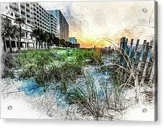 Ocean Drive Easter Sunrise Acrylic Print