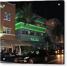 Ocean Drive Miami Beach Acrylic Print