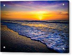 Ocean Drive Sunrise Acrylic Print by David Smith