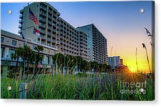 Ocean Drive Sunrise North Myrtle Beach Acrylic Print
