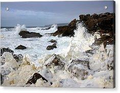 Ocean Foam Acrylic Print by Carlos Caetano