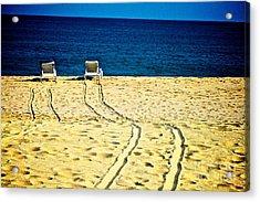 Ocean Front Row Acrylic Print by Matthew Keoki Miller