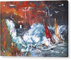 Ocean Fury Acrylic Print