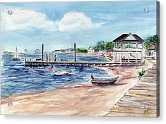 Ocean Gate Boardwalk Acrylic Print