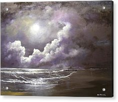 Acrylic Print featuring the painting Ocean Grove Moon by Ken Ahlering