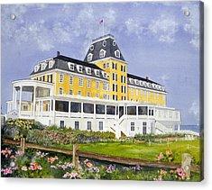 Ocean House Acrylic Print by Lizbeth McGee
