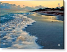Ocean In Motion Acrylic Print by Dennis Baswell