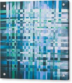 Acrylic Print featuring the mixed media Ocean by Jan Bickerton