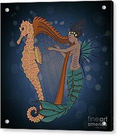 Acrylic Print featuring the digital art Ocean Lullaby1 by Megan Dirsa-DuBois