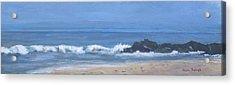 Ocean Meets Jetty Acrylic Print