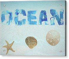 Ocean Postcard Acrylic Print