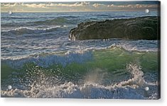 Acrylic Print featuring the photograph Crashing Waves by Elvira Butler