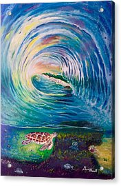 Ocean Reef Beach Acrylic Print by Dawn Harrell