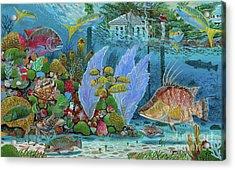 Ocean Reef Paradise Acrylic Print
