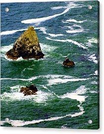 Ocean Rock Acrylic Print by Marty Koch