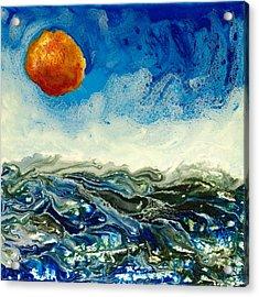 Ocean Run Acrylic Print by Paul Tokarski