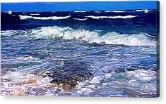 Ocean Scene In Abstract 14 Acrylic Print