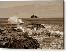 Acrylic Print featuring the photograph Ocean Splash by Yurix Sardinelly