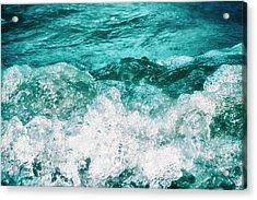 Ocean Splashes Acrylic Print by Wim Lanclus