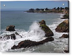 Ocean Spray West Cliff Acrylic Print by Garnett  Jaeger