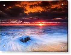 Ocean Sunrise March 30 2017 Acrylic Print