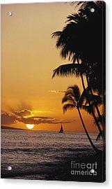 Ocean Sunset Acrylic Print by Erik Aeder - Printscapes