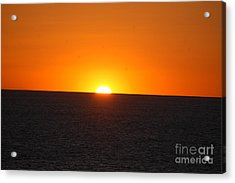 Acrylic Print featuring the photograph Ocean Sunset by Frank Stallone