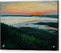 Ocean Sunset No.1 Acrylic Print by Erik Schutzman