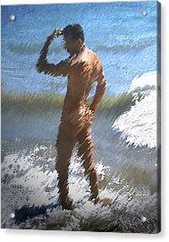 Ocean Thoughts Acrylic Print by Kurt Van Wagner