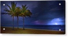 Ocean Thunderstorm Acrylic Print by Mark Andrew Thomas