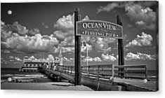 Acrylic Print featuring the photograph Ocean View Fishing Pier by Williams-Cairns Photography LLC
