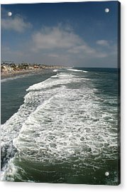 Acrylic Print featuring the photograph Ocean View by Kim Pascu