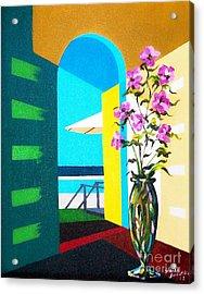 Ocean View Acrylic Print by Sinisa Saratlic