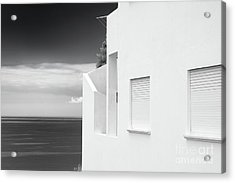 Ocean View White House Acrylic Print