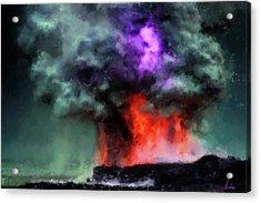 Ocean Volcano Acrylic Print