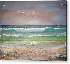 Ocean Wave Acrylic Print by M Bhatt