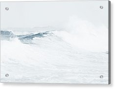 Acrylic Print featuring the photograph Ocean Wave. Series Ethereal Blue by Jenny Rainbow
