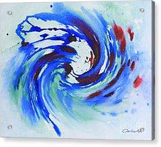 Ocean Wave Watercolor Acrylic Print