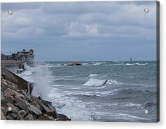 Ocean Waves At Minot Beach Acrylic Print