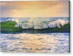 Ocean Waves Acrylic Print by Dapixara Art