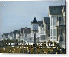 Oceanfront Quote Acrylic Print by JAMART Photography