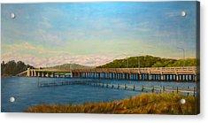 Acrylic Print featuring the painting Oceanic Bridge by Joe Bergholm