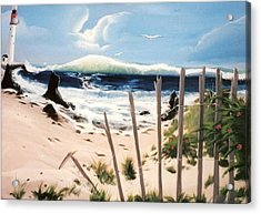 Acrylic Print featuring the painting Oceans Breez by Susan Roberts