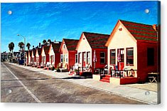 Oceanside Beach Cottages Acrylic Print by Glenn McCarthy Art and Photography