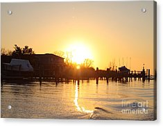 Oceanside Ny Spring Sunset After Fishing Acrylic Print